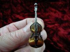 (M-12-A) STRING BASS 3D Tac pin JEWELRY brooch I love miniature MUSIC instrument
