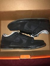 Nike Sb Dunk Low Atlas Brand New Size 8 Premium Qs Black Ds With Accessories 100