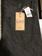 Lee 101 Made in USA Lot 101Z Lean KC Wet Black Wet 31x34 Non-Selvedge Stretch