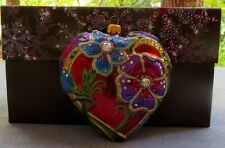 Jay Strongwater Boudoir Nouveau Heart Ornament Swarovski Elements New in Box