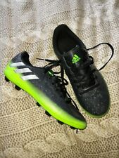 Boys Adidas Messi 16.4 Football Boots Studded Trainers Size 3 Green Black laces