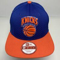 New Era Cap NBA NY Knicks Royal Blue Orange Mesh 9FIFTY Snapback Hat