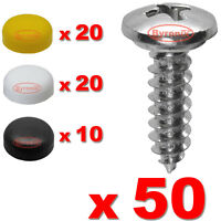 All Trade Direct 60 Pcs Number Plate Caps Screws Bolts Nuts Fitting Fix
