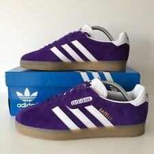 Adidas Gazelle Super Purple Suede Size 7.5 Trainers With OG Box And Tags