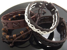 Wholesale 24 pcs Four styles Leather Bracelets Jewelry job lots Mix
