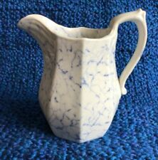 New listing Antique Uk 1835-1877 Ironstone Pitcher Davenport Blue and White Marbelized 6�