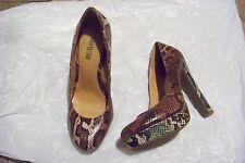 womens cosmopolitan multi colored skin print heels shoes size 10