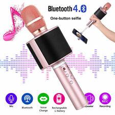 Bluetooth Wireless TWS Karaoke Microphone Speaker Selfie Handheld Mic Player KTV