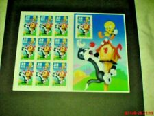 More details for usa 1998 films cartoons looney tunes tweety pie sylvester die cut bklt sheet mnh