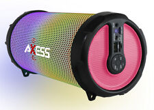 "Axess Disco LED HiFi 2.1 Bluetooth with 3"" Subwoofer Speaker (Pink) SPBL1044PK"