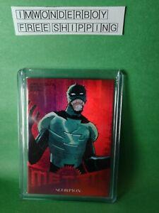 2017 Marvel Fleer Ultra Scorpion Precious Metal Gems PMG - Red 76/99