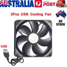 2pcs DC 5V USB Brushless Sleeve Bearing Fen Computer PC Case Cooler Cooling Fan