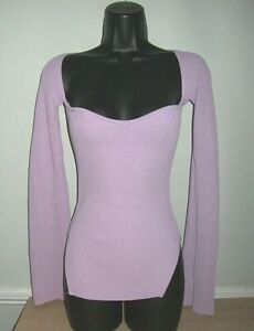 LADIES SEXY LAVENDER *LOVED STORIES* JUMPER SIZE 12
