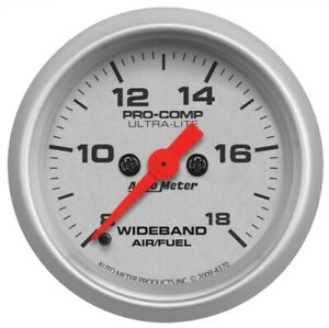 "Auto Meter 4370 2-1/16"" Wideband Air/Fuel Ratio Gauge Analog AFR Ultra-Lite NEW"
