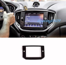 Real Carbon Fiber GPS Navigation Panel Cover Trim For Maserati Ghibli 2014-2017