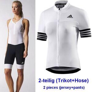 Adidas Mujer Bicicleta Traje Set Rueda Camiseta Tirantes Pantalón Chaqueta