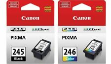 Genuine Canon PG-245 Black Ink Cartridge + Canon CL-246 Color Ink Cartridge