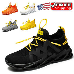 Mens Sneakers Athletic Running Shoes Breathable Casual Outdoor Lace Up Tennis US