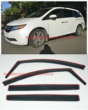 For 11-17 Honda Odyssey In-Channel Side Vent Window Visors Rain Guard Deflectors