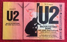 U2 THE LONGEST DAY Milton Keynes Sat 22nd June 1985 TICKET Stub Rare as a Promo