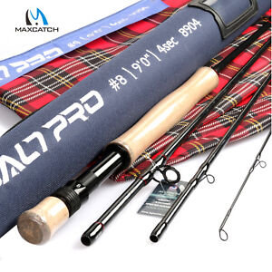 Maxcatch Saltpro Saltwater Fly Fishing Rod 9ft 7-12wt Graphite IM10 Fast Action