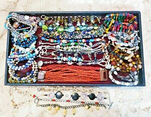 52 Vintage and Modern Piece Mixed Style Beaded Bracelet Lot - Silpada