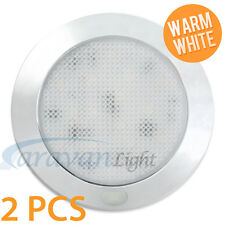 2X 12V LED Ceiling Light Caravan Interior Wall Lamp Warm White Motorhome