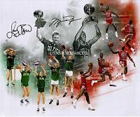 Larry Bird Michael Jordan Signed 8x10 Photo Reprint Autographed RP