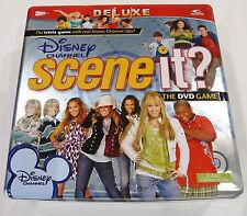 Disney Channel DeLuxe Scene It! DVD Board Game Age 8+ Metal Tin - Complete VGC