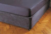 Belledorm Divan Bed Base Wrap Valance Charcoal Grey Single Double King Superking