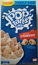 NEW KELLOGG'S POP TARTS FROSTED STRAWBERRY CEREAL 17 OZ FREE WORLDWIDE SHIPPING