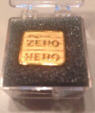 Snap On Tools Collectable Gold Plated ZERO HERO Lapel Pin 90s Credit Sales Awd