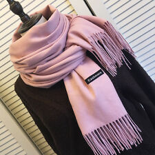 Women's Oversized Cashmere Wool Solid Pashmina Scarf Wraps Blanket Scarves