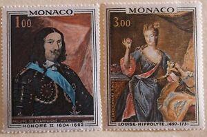 Monaco Stamp 735-6 MNH Art, Royalty Topical