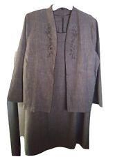 Blair ~ Plus ~Size 22W~ Brown Dress & Jacket Set RETRO VINTAGE MAD MEN