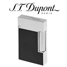 ST Dupont Ligne 2 Black Micro Diamond Head Perfect Ping Soft Flame Lighter 16456