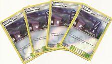 4x LAVENDER TOWN 147/181 - TEAM UP Pokemon Card- REV HOLO -PLAYSET - NM/M