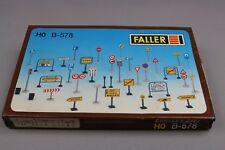 Z294 Faller B-578 maquette panneaux signalisation route rue parcmetre poubelle