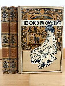 Historia de las Creencias,Obra Completa 3 Tomos,Montaner y Simon Editores 1904