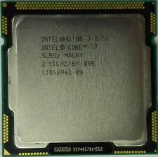 Intel Core i7-875K 2.93GHz LGA 1156 SLBS2 8M Cache 4-Core Processor CPU Tested