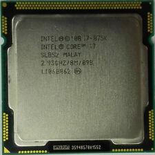 Intel Core i7-875K 2.93GHz LGA 1156 SLBS2 8M Cache 4-Core Processor CPU Tested
