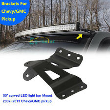 Curved 52inch 2PCS LED Light Bar Mount Bracket Fit For 07-14 GMC/Chevy Silverado