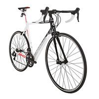 Carbon Fiber Road Bike 700C Wheel Shimano 18 Speed Racing Mens Bicycle 56cm XL