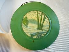 "Antique Vintage Flue Cover, Stove Pipe Vent, 7 3/4"" Green depression era"
