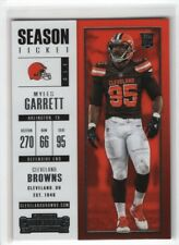 Myles Garrett 2017 Panini Contenders Season Ticket Rookie RC Card # 44 Browns
