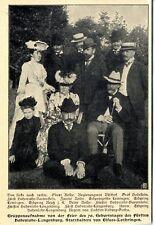 Feier des 70. Geburtstags Fürsten Hohenlohe-Langenburg Elsass- Lothringen v.1902