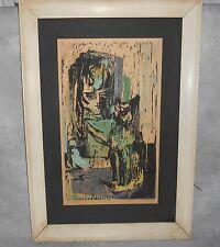 Ann Cushing Gantz Woodcut Mid Century Modern Print Artist Signed