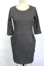 New Bar Iii 3/4 Womens Sleeve Side Pocket Cotton Heather Grey Casual Dress M $69