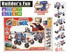 Junior Blocks Stem Toys 6 in 1 DIY Kids Construction Creative Set