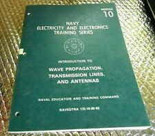 1983 Naval Training book Navy Module 10 Wave Propagation Transmission Lines At